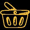 Shopping Basket Icon Graphic